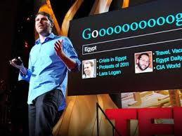 Eli Pariser giving his TED Talk over the Filter Bubble
